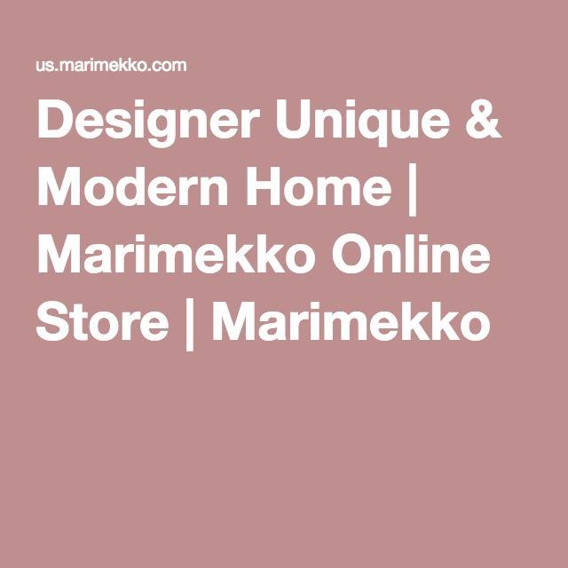 Designer Unique & Modern Home | Marimekko Online Store | Marimekko