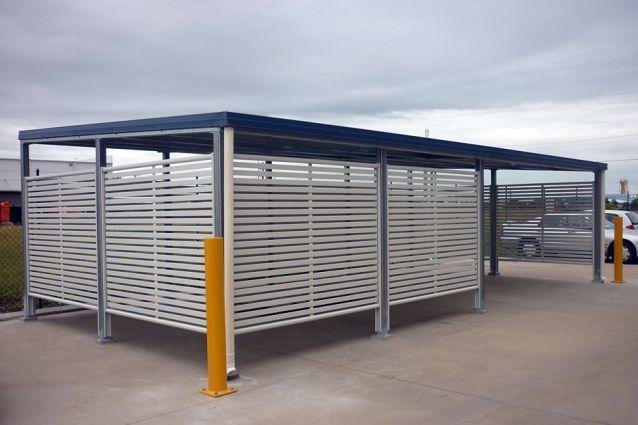Clik 39 n 39 fit colorbond steel carport screen carport for Carport gate ideas