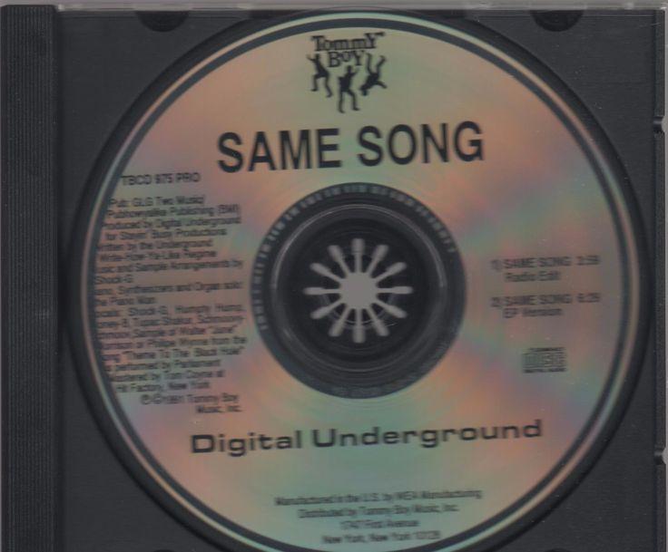 2PAC DIGITAL UNDERGROUND MEGA RARE US REMIX PROMO CD Same Song TOMMY BOY TUPAC