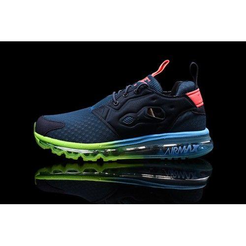 New Release Nike Air Max 2018 Vt Light Green Deep Blue Pink Men\'s ...