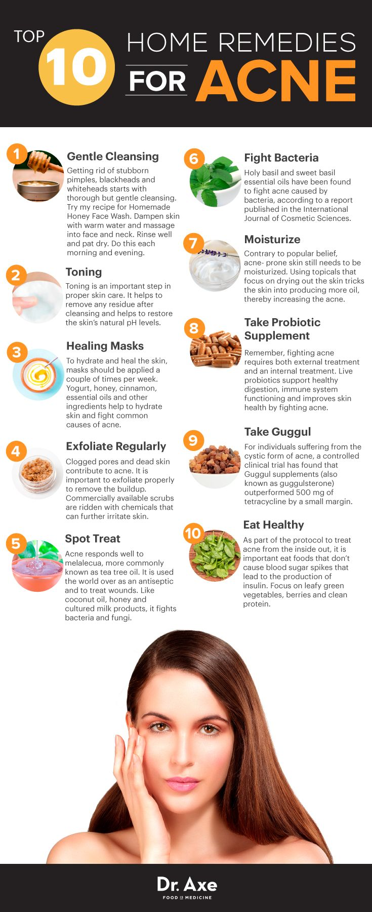 Acne home remedies http://www.draxe.com #health #Holistic #natural