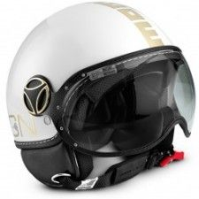 Casque Momo Design Classic Blanc mat or #speedwayfr #speed #france #scooter #casque #gold #casques #or #white #blanc