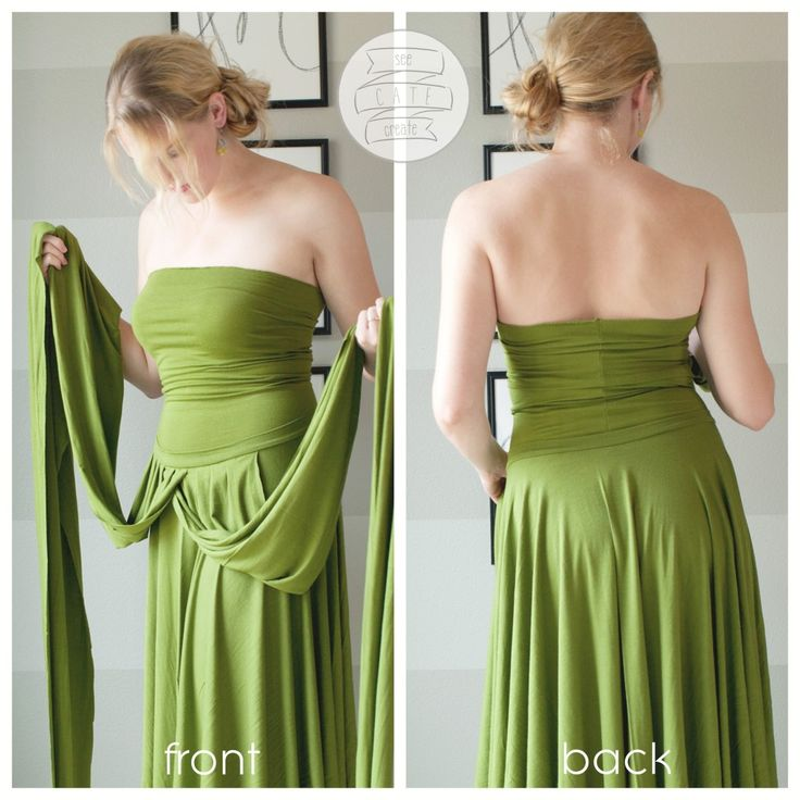 Wrap convertible dress tutorial. Those long straps can wrap around like a moby…