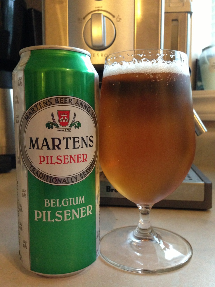 Martens Belgium Pilsner made with barley, malts, hops and hop extracts...it's light and  reminiscent of Coors light at 5.0%