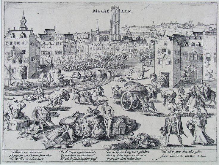 'The pillage of Mechelen by the Duke of Alva - Frans Hogenberg (Museum Boijmans Van Beuningen in Rotterdam)