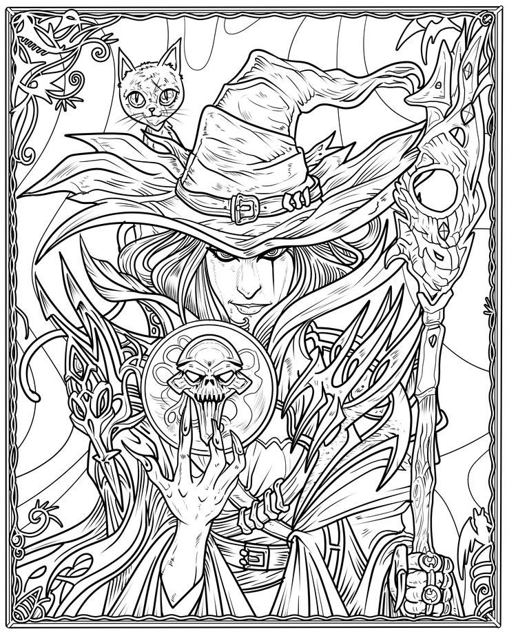 Witch Coloring Page Arts amp Crafts