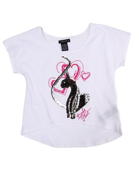 22.00 The Girl's Big Kitty Tee by Baby Phat