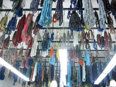 """""""Although the shop is HUGE, it is so full that even the ceilings are full with handmade beads...""""  Izmir, Turkey"""