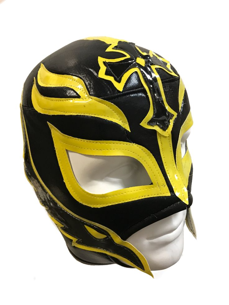 REY MYSTERIO Lucha Libre Wrestling Mask (pro-fit) Black/Yellow