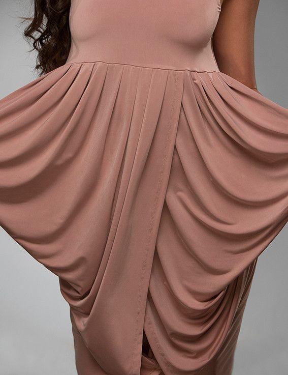 OLEA dress in latte brown Ready-to-wear - WisEDress