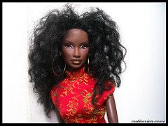 Nakia (cutieerica) Tags: jason fashion dark hair asian toys doll long dolls legs boots photos chocolate african barbie curls american oriental dolly wu weave royalty integrity skinned nakia