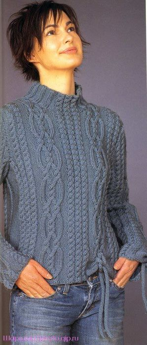 174530790 31 (298x700, 56Kb) - beautiful chunky cabled pullover