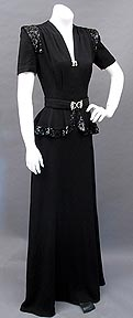 1940s Carolyn Kelsey dress at Past Perfect Vintage Clothing