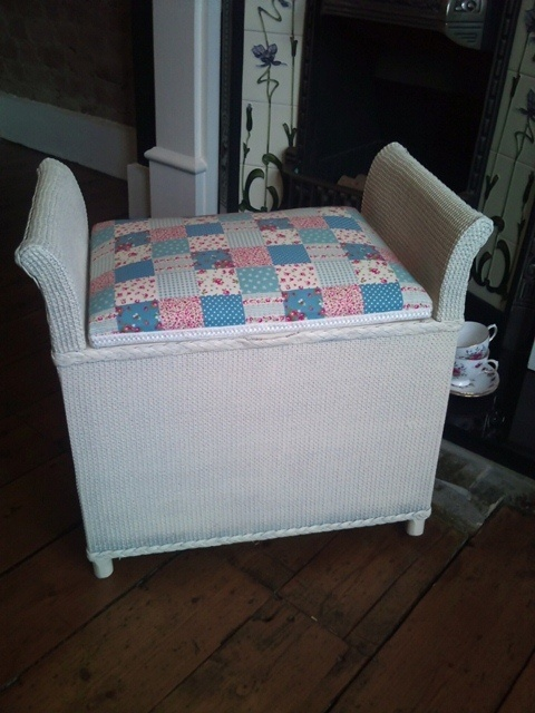 NOW SOLD - Gorgeous refurbished Lloyd Loom Dressing Chair £55