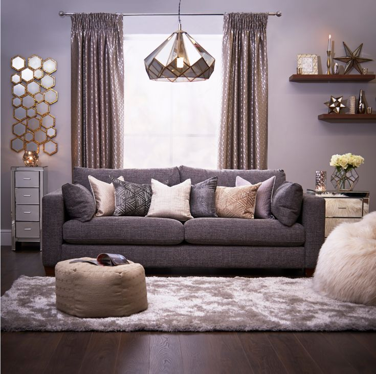 Combining Dramatic Shapes With Gentle Textiles This Lustrous Look Uses Leaded Glass And Gold Satin Lounge Decorlounge