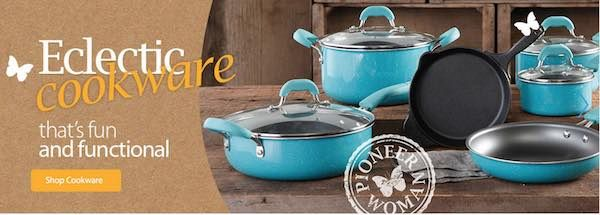Check out the new Pioneer Woman Collection at Walmart! Give you Kitchen a new look with Eclectic cookware, bakeware, and more! Shop your local store or online and get free shipping on orders over $50! Find a style you love at Walmart! The Pioneer Woman Flea Market 6″ Decorated Footed Bowls Bloom Dots Turquoise Set …