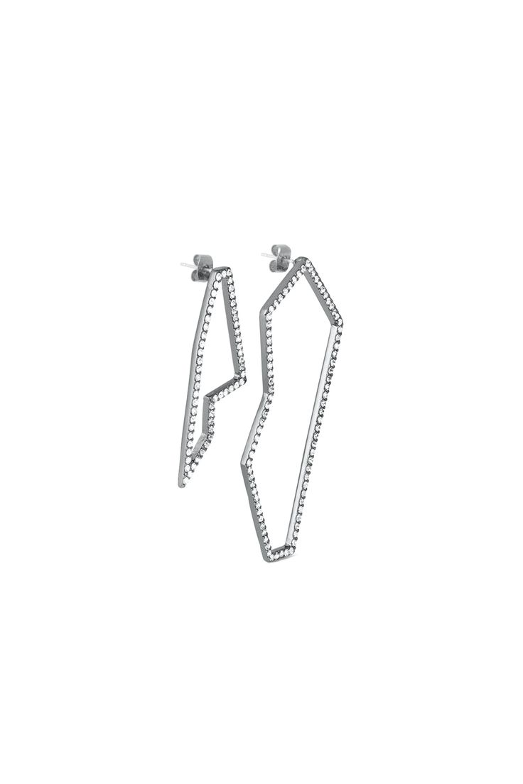 Graphic Crystal Earrings