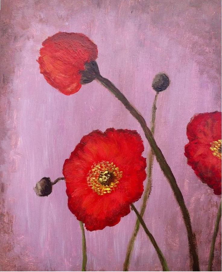 Simple Poppies - acrylic