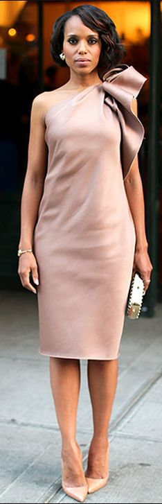 Kerry Washington: Dress – Lanvin  Purse – Tod's  Watch – Movado  Shoes – Christian Louboutin