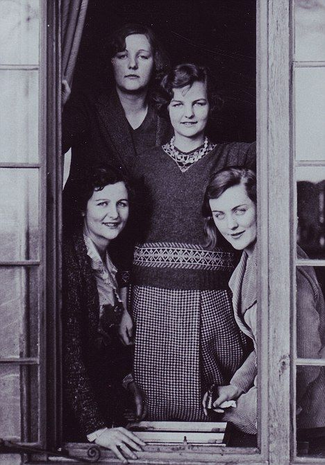 Unity, Decca, Nancy, and Diana Mitford. This amazing family of six children lived in the only residence (a castle) on the island of Inch Kenneth.