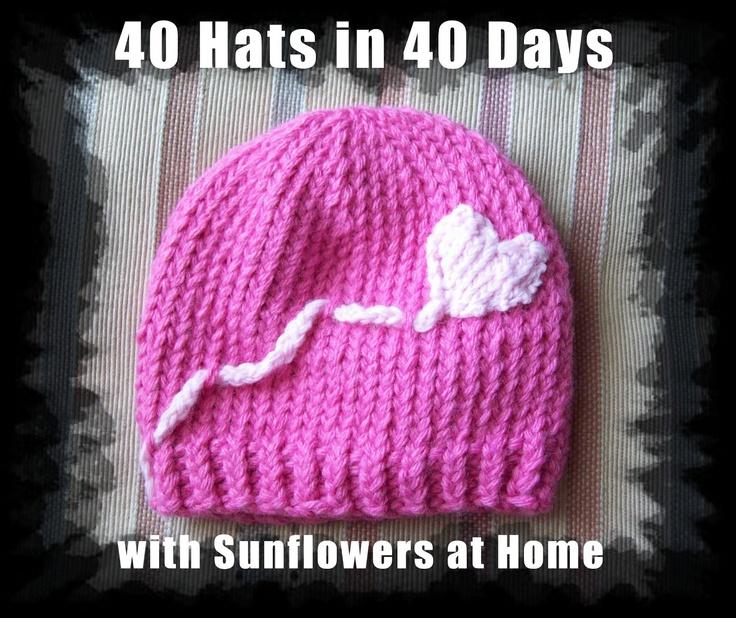 Crochet Heart on a String Beanie Hat - Picture Idea