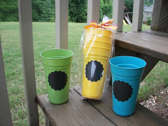 Chalkboard Cups Set of 4  As featured in The Tennessean newspaper Great Gift  Ready to Give by polkadotsmg, $8.95