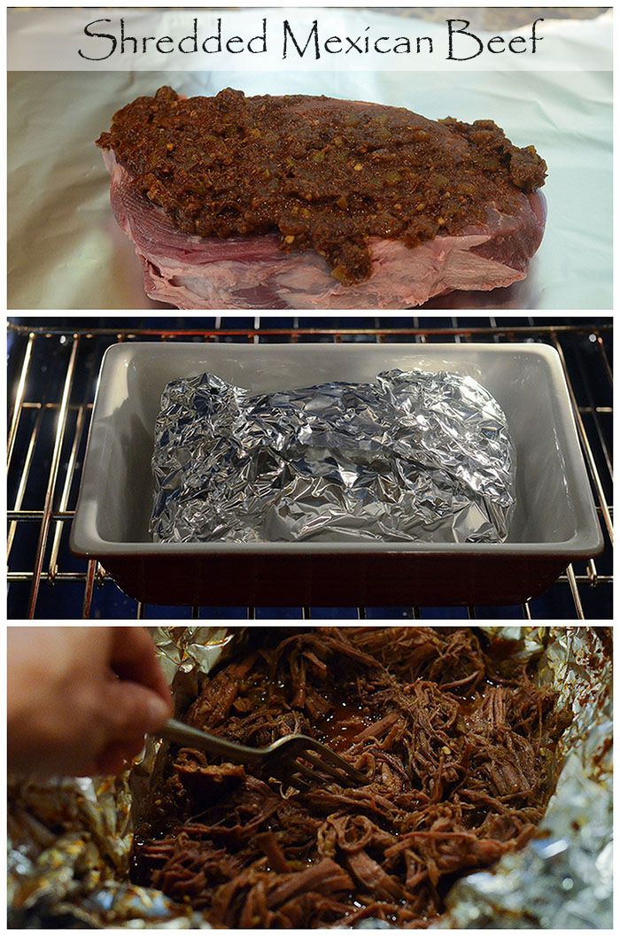 Great method for cooking incredibly tender, super flavorful shredded beef. Perfect for tacos, burrito bowls, nachos, and enchiladas. #mexicanfood