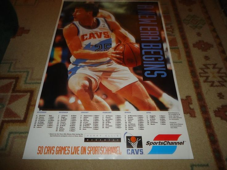 NBA Cleveland Cavaliers Mark Price Poster.  Game Schedule.  A New Era Begins. 36 #ClevelandCavaliers