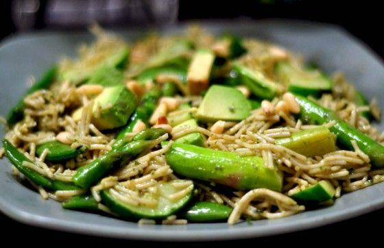 ... Pasta Vert Stir Fry recipe with Avocado, Zucchini, Asparagus and snap