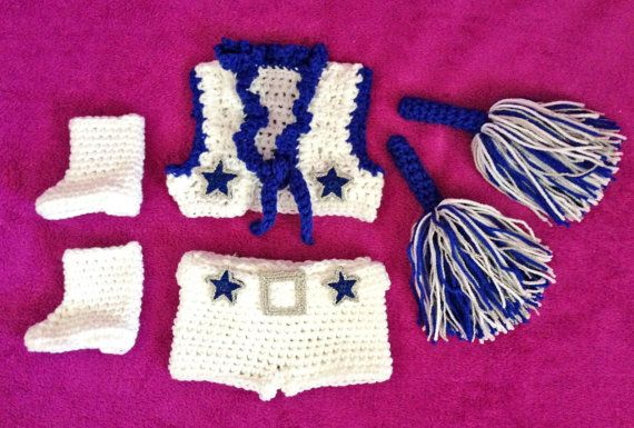 Baby Dallas Cowboys Cheerleader Outfit by TwinkleStarPhotoProp