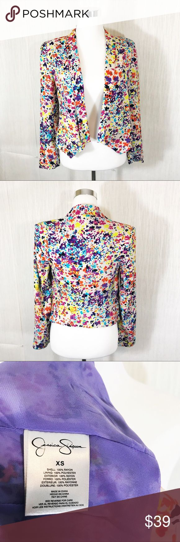 Jessica Simpson | Multi Color Floral Blazer Women's size XS | New without tags | Light weight and super versatile! Looks great with jeans and heels Jessica Simpson Jackets & Coats Blazers