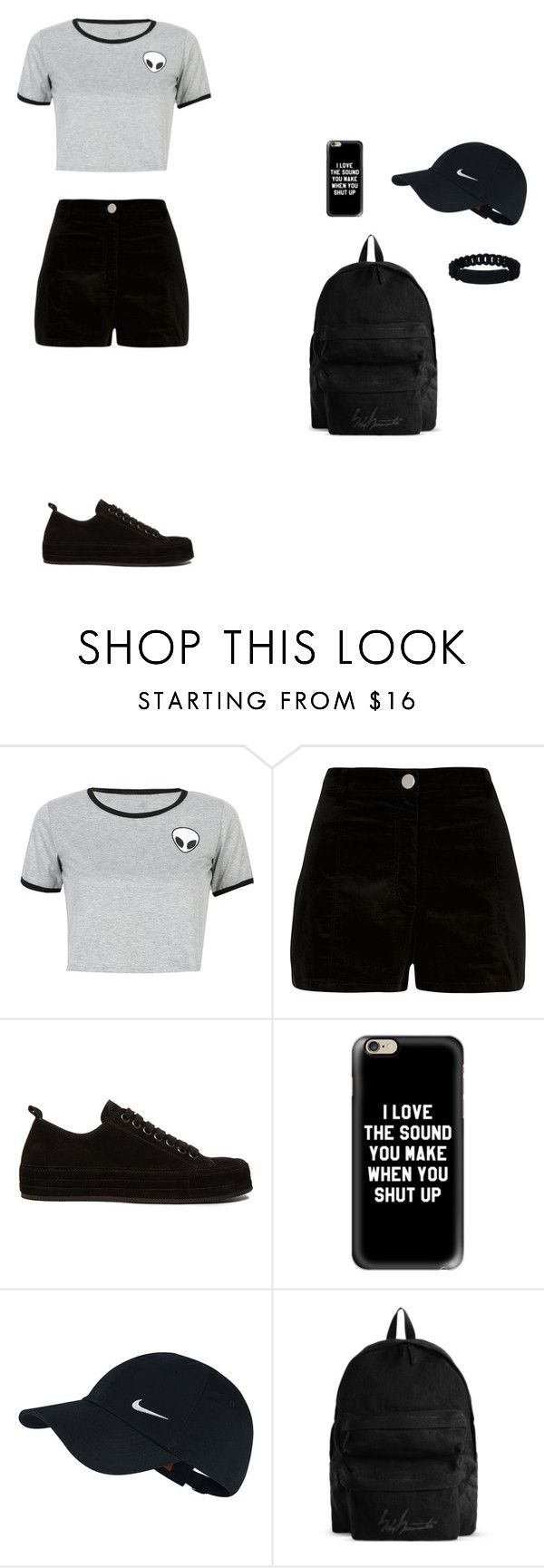 """""""summer 2016"""" by serobabova on Polyvore featuring мода, WithChic, River Island, Ann Demeulemeester, Casetify, NIKE, YOHJI YAMAMOTO POUR HOMME и Marc by Marc Jacobs"""
