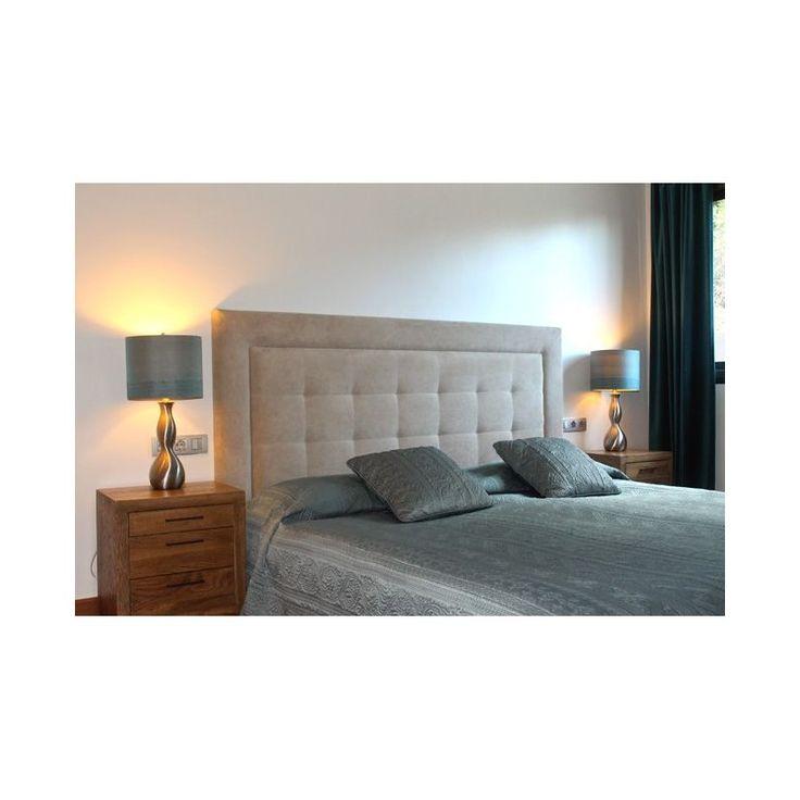 Cabecero de cama acolchado ampliar cabecero de cama de cabecero color gris estilo capitone - Cabecero cama acolchado ...