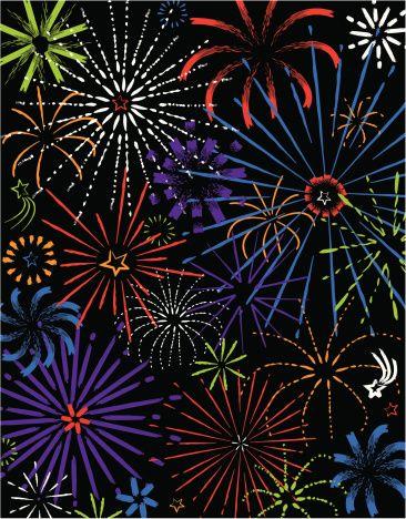 Fireworks in night sky Grouped elements Color Illustrator Ver. 5:スマホ壁紙