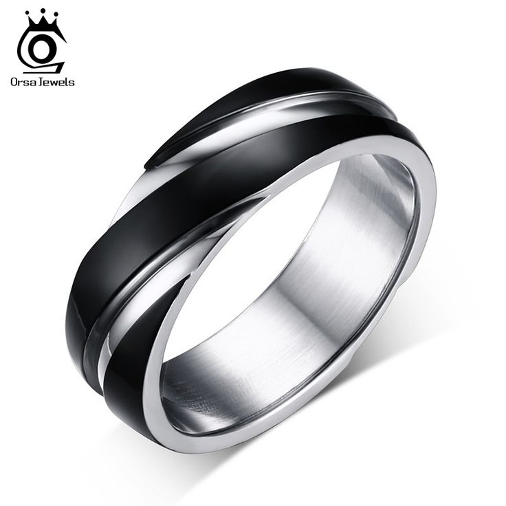 ORSA 2017 New Fashion Daily Wear Rings Top Quality Grey Color Titanium Steel Men Party Rings OTR60
