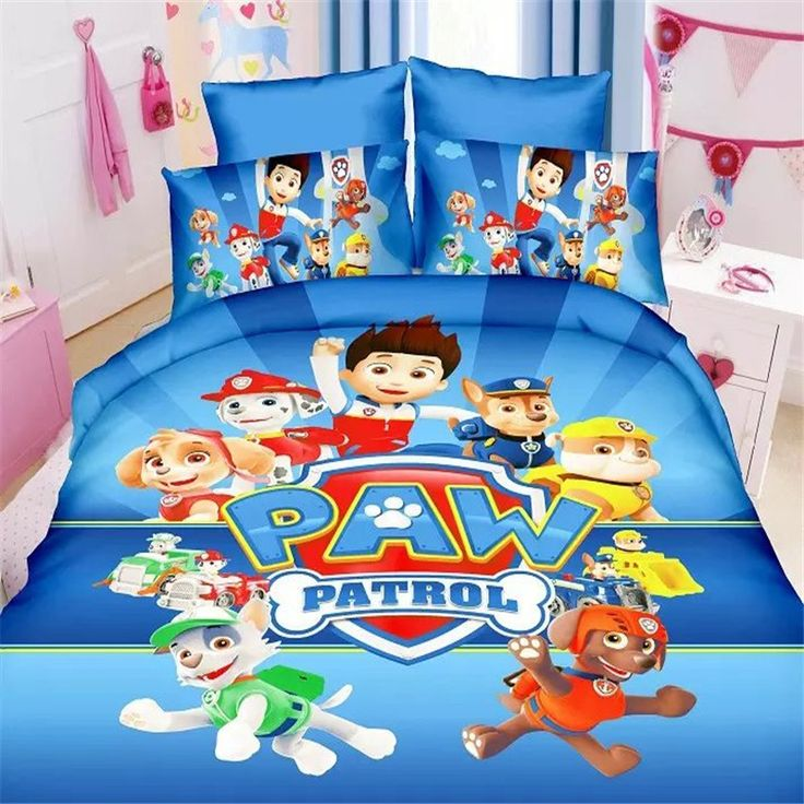 paw patrol boys bedding set duvet cover bed sheet pillow cases twin single size