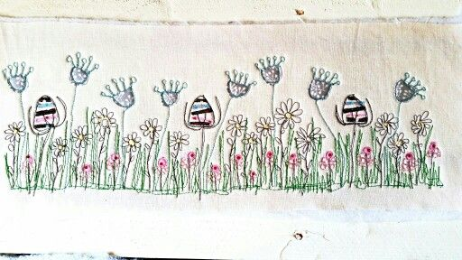 Freehand motion sewing. ..flowers in a meadow from Picpacnaddywak