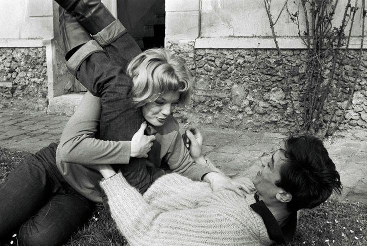 Alain Delon et Romy Scheider.