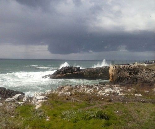 The ocean on a stormy day