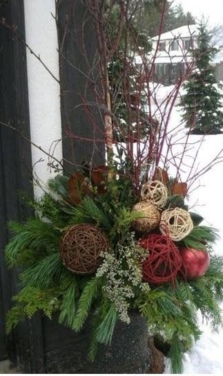 Decorating Front Porch Urns For Christmas 36 Best Urn Decor Images On Pinterest