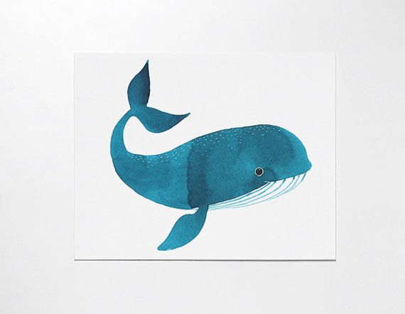 Oanabefort etsy shop print Happy Whale Art at https://www.etsy.com/listing/162123832/happy-whale-art-print