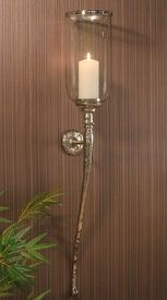 GU780 - Nickel Hammered Aluminum Wall Sconce - Candle Holder