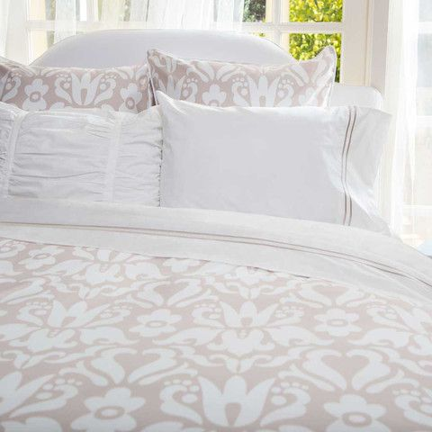 Montgomery Beige Duvet Set. Soooo pretty! Can't decide if I like the blue or beige better? Decisions, decisions :))