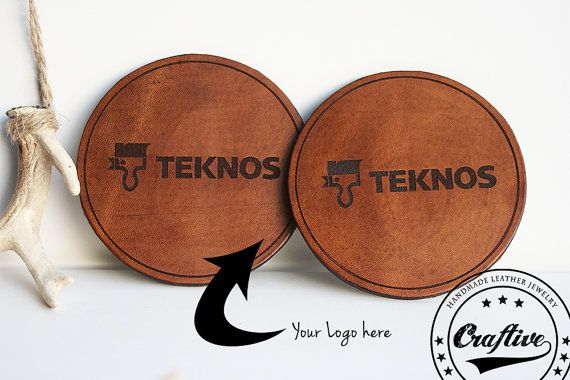 These #personalized leather coasters are the perfect gift for company costumers, associates or employes or maybe to sell with your own logo.  Production time: 10 days.  ** S...
