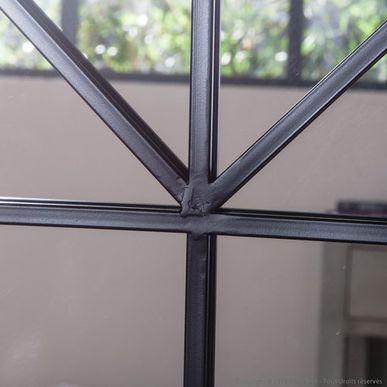 Miroir atelier XL en métal noir forme arcade Bricklane decoclico Factory