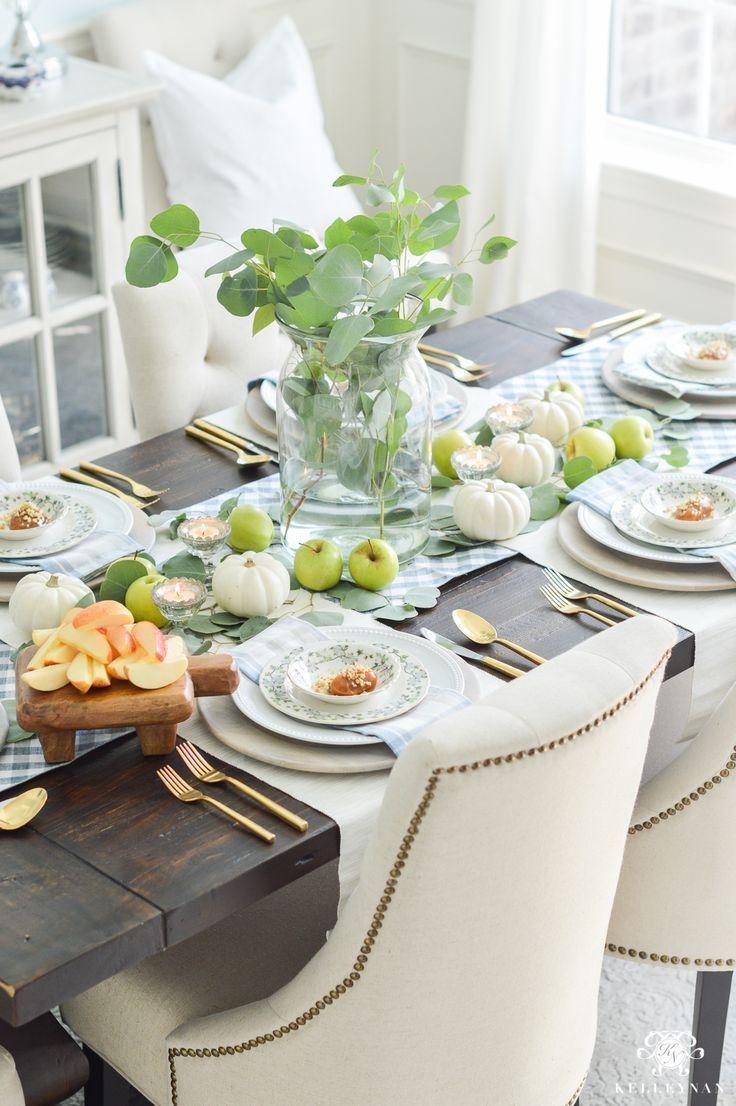 Easy Fall Table Idea Caramel Apple Place Settings Fall Table