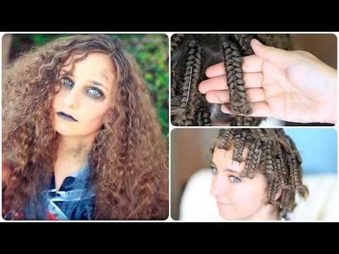Sometimes the Hairstyle Makes or Breaks the costume: Zombie Cheerleader | Hair Pin Curls | Halloween Hairstyles