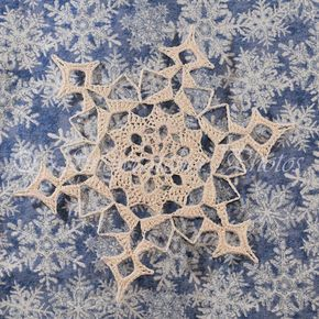 Snowmass Mountain Snowflake crochet pattern