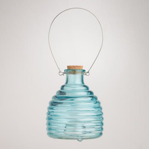 One of my favorite discoveries at WorldMarket.com: Glass Wasp Catcher, Blue. Need some of these around! Don't want any bugs by the food!
