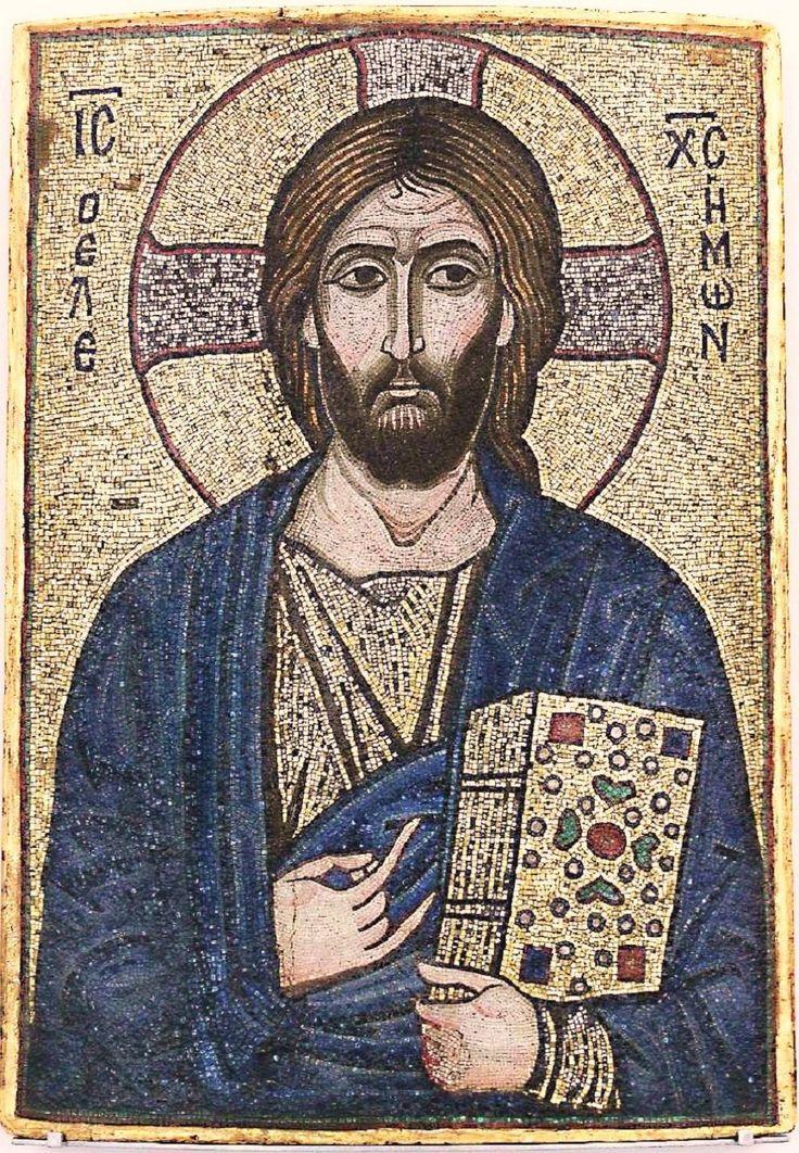 Пантократор Мозаика XII века